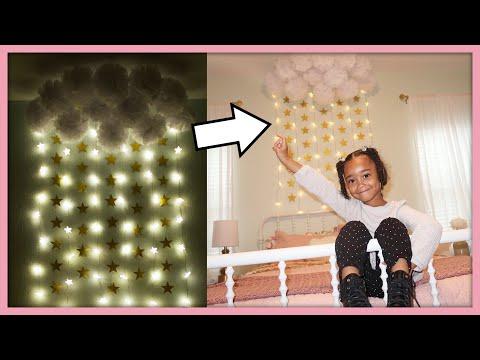 DIY Kids Room Decor | Clouds & Stars! | MOM VLOG