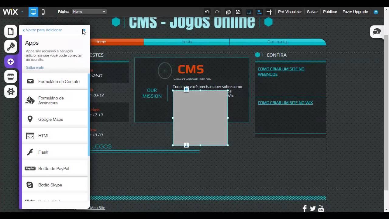 4f6e34fbb5 Como Criar um site de Jogos Online no Wix - YouTube