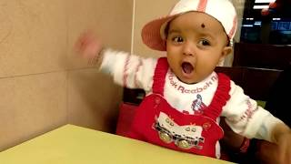 Funny baby Laughing and playing domino's pizza, Best Funny Babie Videos