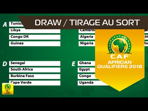Draw for 2018 FIFA World Cup Russia - African Qualifiers
