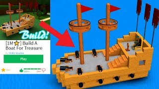 Thumbnail Boat!- ROBLOX Build a Boat for Treasure (Speed Build)