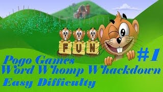 Pogo Games ~ Word Whomp Whackdown #1 - Easy Difficulty