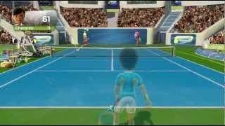 Rapid Returner tennis minigame Kinect Sports Season Two Xbox 360 720P gameplay