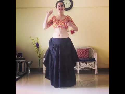 Best indian belly dance ever for flute music by cute Naina sharma