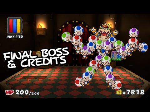 Paper Mario: Color Splash - Final Boss & Ending Credits