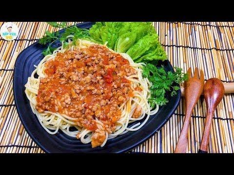 MỲ SPAGHETTI | Cách làm mì Ý đơn giản tại nhà | Bếp Của Vợ