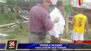 Ucayali: incendio consumió 7 viviendas en caserío San Juan de Neshuya
