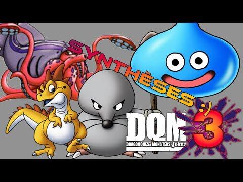 Monster synthesis / Synthèses des monstres de DQMJ3 (Slime