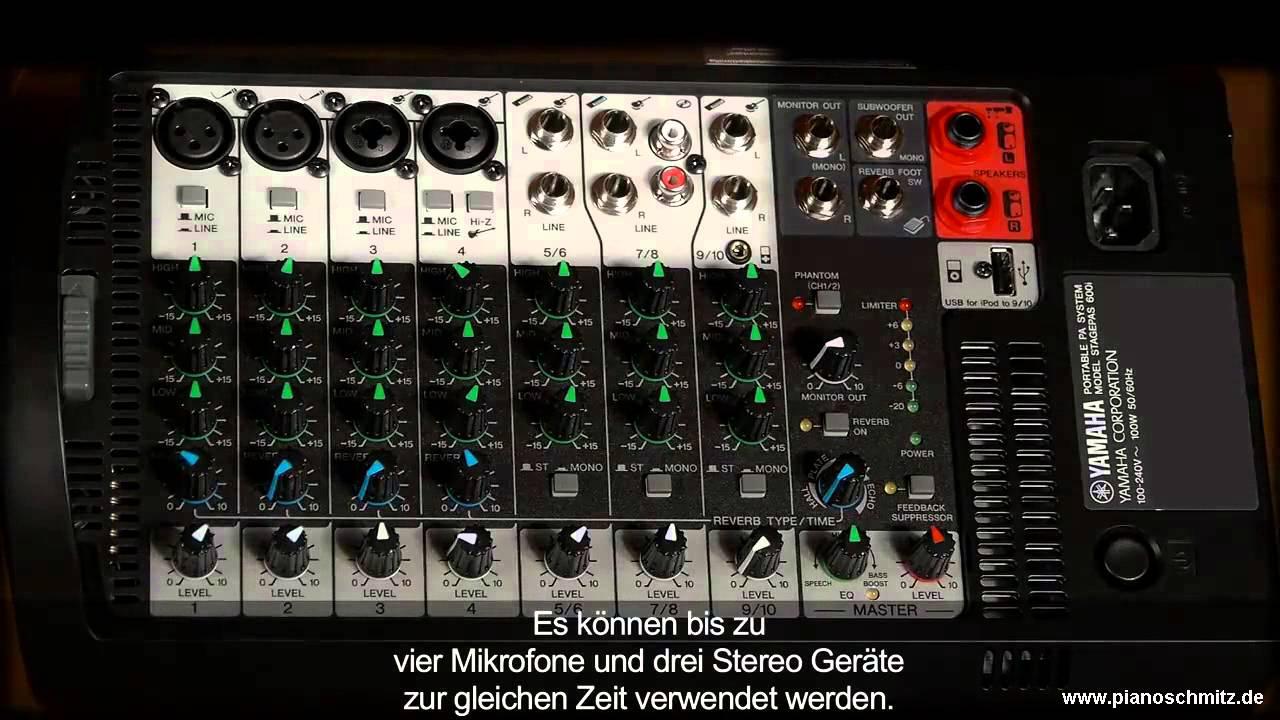 Yamaha Stagepas 600i - Piano Schmitz Essen - YouTube