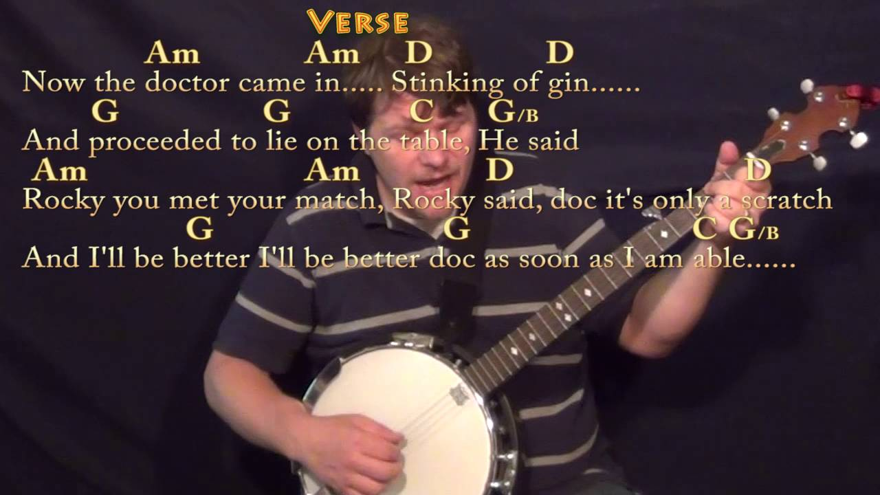 Rocky Raccoon The Beatles Banjo Cover Lesson With Chordslyrics