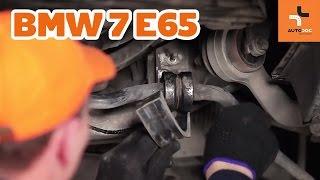 Kuinka vaihtaa etukallistuksenvakaajan puslat BMW 7 E65 -merkkiseen autoon OHJEVIDEO | AUTODOC