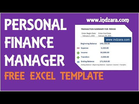 Personal Finance Manager - Free Excel Budget Template v2 - P