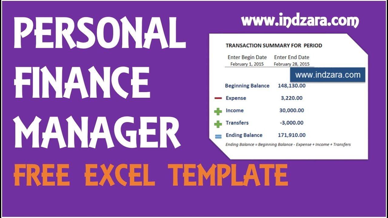 Personal Finance Manager Free Excel Budget Template V Product - Personal finance excel template