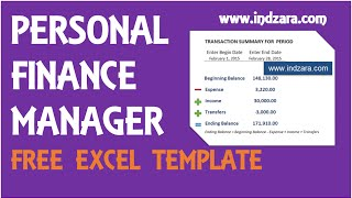Personal Finance Manager Excel Template v2 Product Tour