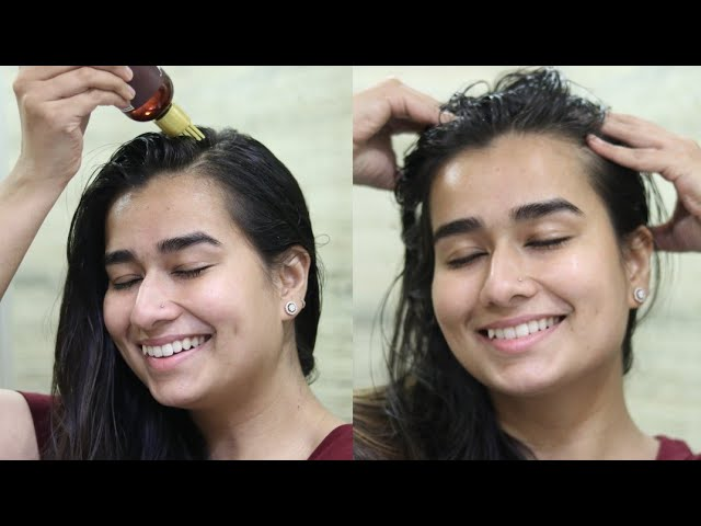 Organic Amla Oil Review & Demo | For Hairfall and Damaged Hair
