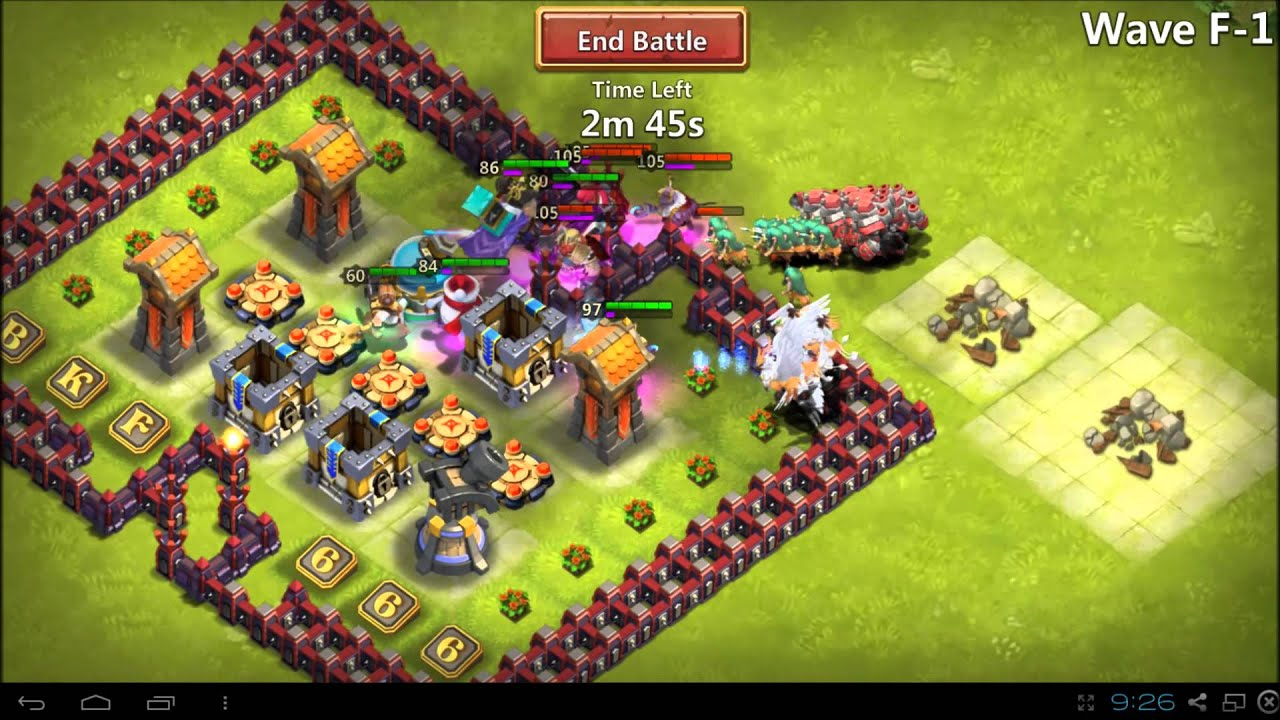 Castle clash wave e with town hall 13 v2 80 level heroes might at