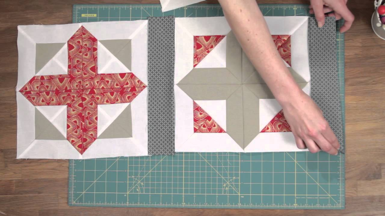 Quilty How To Add Sashing To Your Quilt Block Youtube