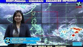 Public Weather Forecast Issued at 4:00 PM March 24, 2018