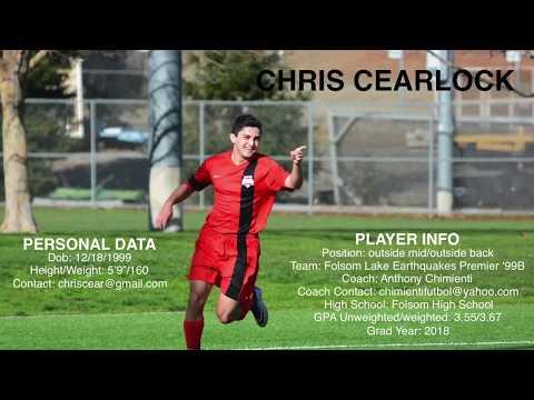 Chris Cearlock  College Soccer Recruiting Highlight Video  Class of 2018