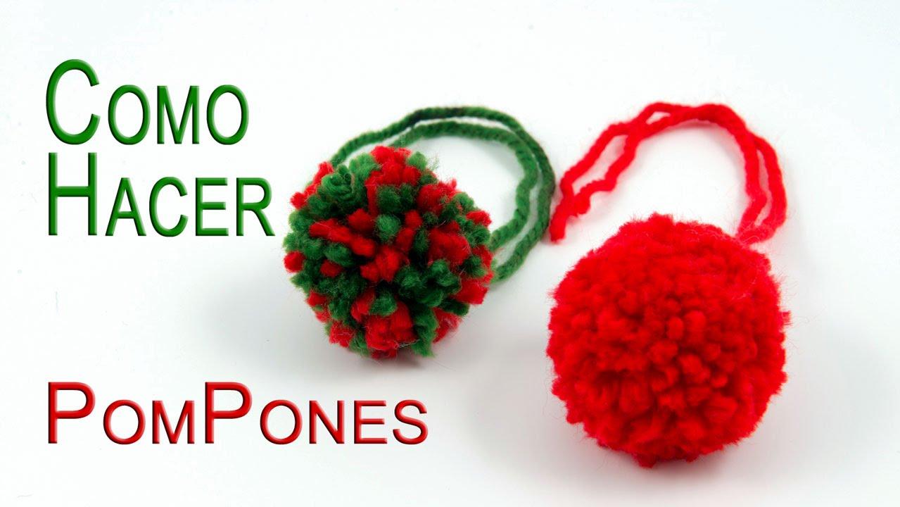 Como hacer pompones muy facil youtube - Como hacer pompones ...