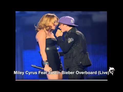 Justin Bieber Ft Miley Cyrus - Overboard (Live)