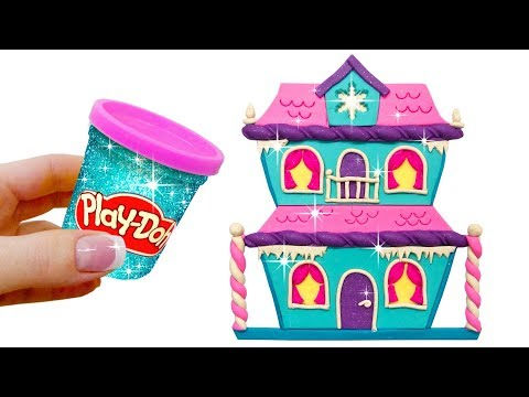 Learn Colors. Making Play Doh Frozen Doll's House. DIY Surprise Toys Disney