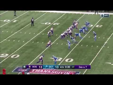 Sam Bradford Throws A Costly Interception To Darius Slay | Detroit Lions Vs Minnesota Vikings