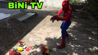 Trò Chơi Thi Bắn Con Vật Và Nhận Thưởng❤️Spiderman Shoot Super Hero Toys To Get Bonus Rewards-BiNiTV