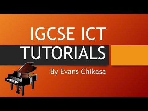IGCSE ICT 2016 Specimen Paper 2 Document Production