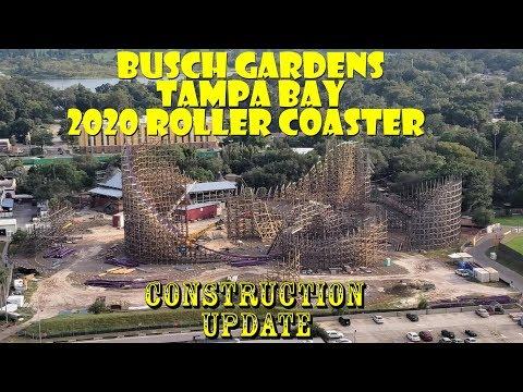 Busch Gardens Tampa RMC Gwazi / General Park Construction Update 9.8.19 More Track & HOS Prep!