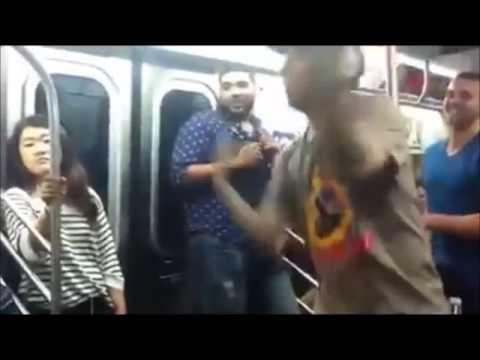 High Asian Dude Dancing In NYC Subway