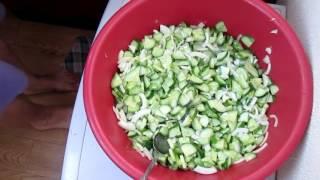 Салат из огурцов на зиму вкусный и легкий рецепт
