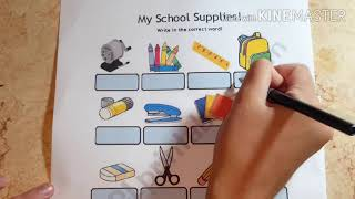 تعلم اللغة الانجليزية للسنة الاولى متوسط( الأدوات المدرسية )   الجزء الخامس