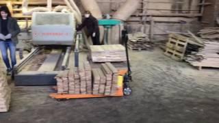 видео Изготовление и производство половой доски