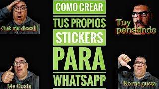 Creando paso a paso paquete de Stickers para WhatsApp. Imágenes con transparencias y texto