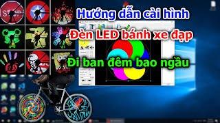 Hướng dẫn cài hình vào đèn LED bánh xe đạp   Led Wheel Led bicycle wheel light