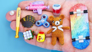 58 EASY DIY MINIATURE BARBIE ~ Mini Water Cannon ,Teddy ,Slime  and more!