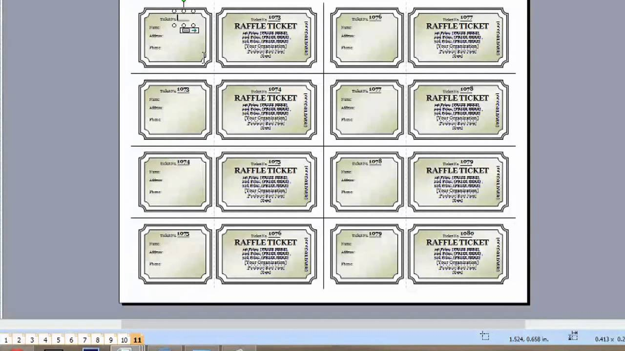 Ticket Template Microsoft Word FREE DOWNLOAD - Event ticket template free download word
