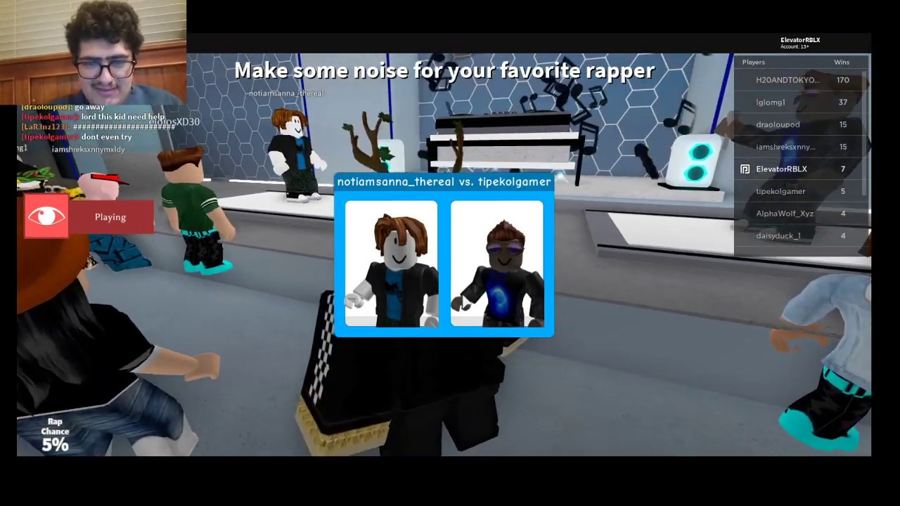 I Challenged Some Noobs To Rap Battle Me Roblox Youtube