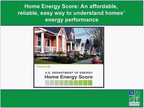 Home Energy Score An affordable,  reliable, easy way to understand homes'  energy performance