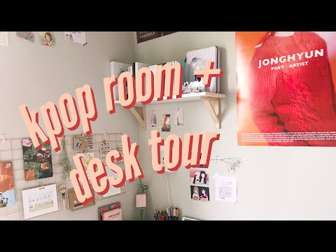 kpop room + desk tour (updated!) 🌱fall 2018