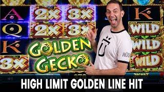 🦎 GOLDEN Line Hit on GOLDEN Gecko 🎰 More High Limit Slots!