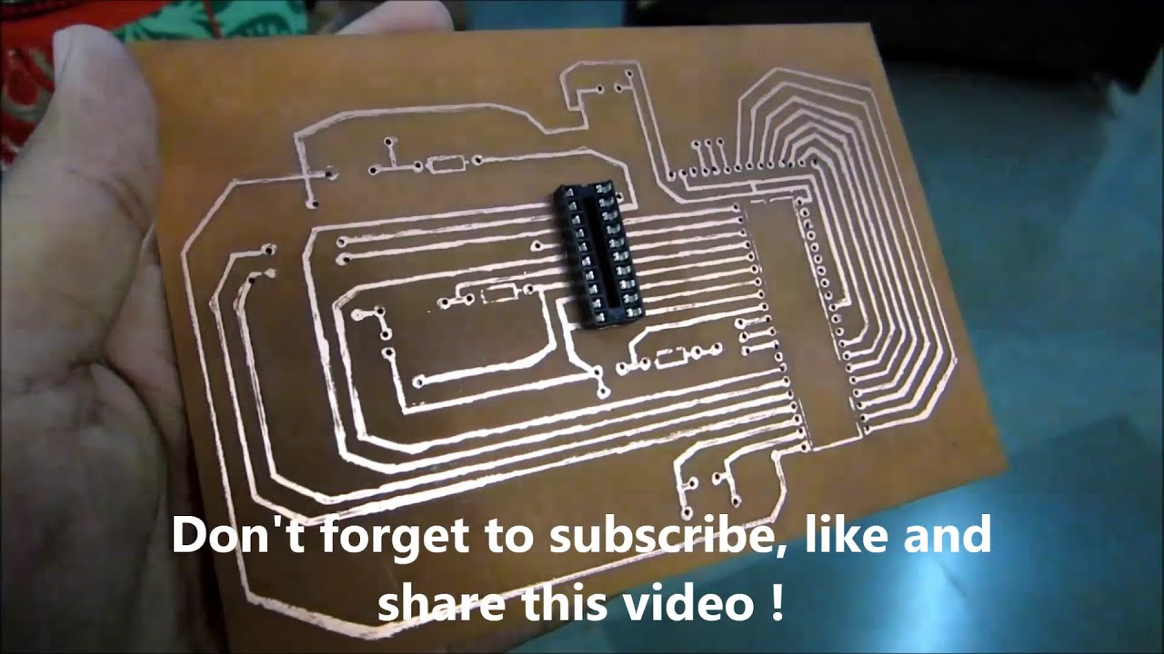 How to make PCB for mini projects using inexpensive material ! - YouTube