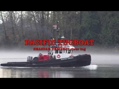 PACIFIC tugboat SEASPAN TEMPEST Fraser Fog 2017