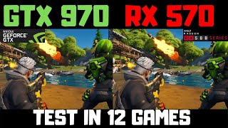 Скачать GTX 970 Vs RX 570 8gb Benchmark Comparison In 12 Games