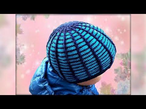 Вязаные шапочки крючком для мальчиков 12 моделей с описанием