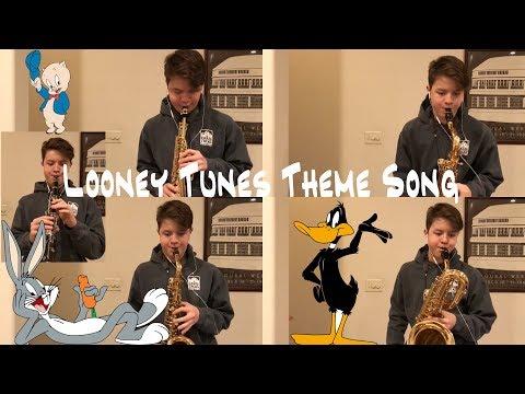 Looney Tunes Theme Song Saxophone Quartet + Clarinet