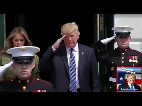 Oh My God! Trump Walked Up Behind This Marine And Did Something No One Would Have EXPECTED