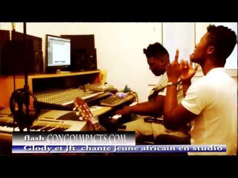Glody et Jft chante jeune africain en studio