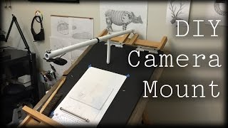 Making An Easel Camera Mount For Recording Drawings